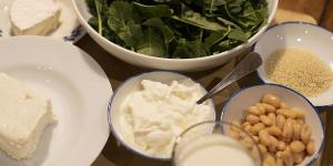 Calcium-rich foods include milk, yogurt and cheese, as well as non-dairy sources such as kale, white beans and sesame